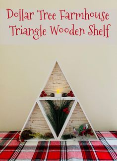 Dollar Tree Farmhouse Triangle Wooden Shelf + $500 PayPal Giveaway | iGoBOGO Christmas Blessings, Christmas Wishes, Christmas Activities For Kids, Christmas Holidays, Christmas Ideas, Diy Projects For Kids, Diy For Kids, Paypal Gift Card, Diy Advent Calendar