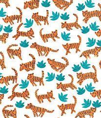 Image result for tiger fabric vintage jungle