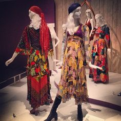 Giorgio di Sant'Angelo (1971), a perfect Thea Porter gypsy (1970) and a totally dreamlike patchwork Yves Saint Laurent dress (1969).