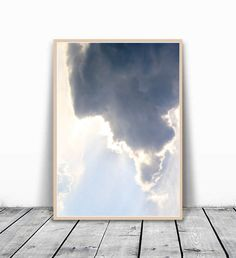 Sky Print Clouds Photo Sky Art Extra Large Wall by VividPictures