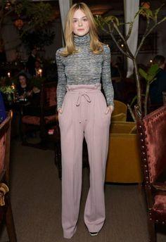 1/23 #エル・ファニング Rodarte x Superga Dinner  海外セレブ最新画像・私服ファッション・着用ブランドチェック DailyCelebrityDiary*