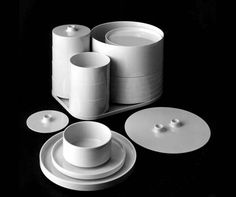 massimo vignelli stacking melamine set