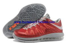 2b922808b72c Latest Listing Cheap Sale Nike Air Max Lebron 10 Low Red Gray Orange For  Sale
