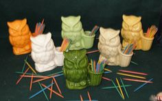Hootie  Ceramic Owl Tooth Pick Holder    Choose by ceramicsbylisa, $10.00