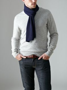 Wool Cashmere Solid Flat Scarf by C/89 on Gilt.com