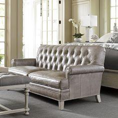 Lexington Home Brands Hillstead Tufted Back Leather Loveseat - 01-7924-23-01