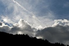 Clouds and contrail Austria, Clouds, Sky, Explore, Places, Outdoor, Heaven, Outdoors, Outdoor Games