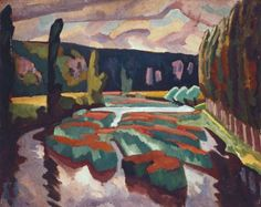 Roger Fry, of the Bloomsbury Group. River with Poplars