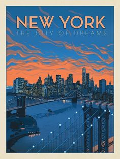 Manhattan, New York / United States of America / United States of America . - Manhattan, New York / United States of America / United States of America / USA - City Poster, Poster S, Poster Wall, Poster Prints, New York Poster, Posters Decor, Dorm Posters, Photo Vintage, Vintage Ads