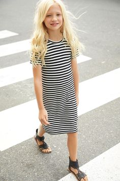 Buy Black/White Stripe Tube Dress online today at Next: United States of America Girly Outfits, Fashion Outfits, Fashion Trends, Shirt Skirt, Tube Dress, Black White Stripes, Latest Fashion For Women, Girls Dresses, Trending Outfits