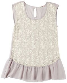 Wrapper Lace Front Sleeveless Peplum Top Wrapper. $17.99