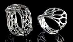 3D printed custom jewelry. You can adjust many settings and then it is printed just for you.