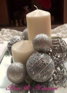 Set de marco francés y velas para que en navidad puedas lucir como centro de mesa