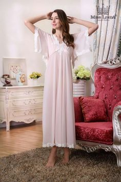 I Love MISS LINDA - Summer Collection - Silk Elegance Long Nightie