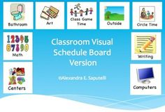 Visual Schedule For Children With Autism