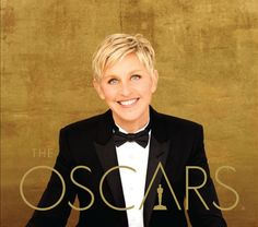 Here's the official poster for the Oscars 2014 with host Ellen DeGeneres! See the full-length poster here: Ellen Degeneres, Chris Hemsworth, Illuminati, Kino News, Oscars 2014, Short Grey Hair, Cinema, Pop Culture News, Academy Awards