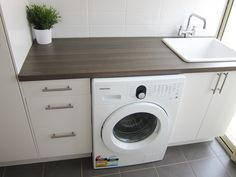 Attractive Classy Laundry Room Update Showing Off Minimalist & Modern Interior Designs - C. Ikea Laundry Room, Laundry Nook, Laundry Room Remodel, Small Laundry Rooms, Laundry Room Storage, Laundry In Bathroom, Compact Laundry, Condo Bathroom, Ikea Bathroom