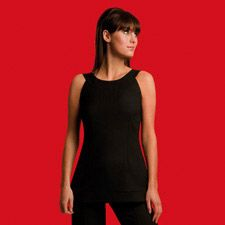 Summer Update: Sleeveless Tunic with Round Neck - In Line London