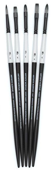 Artists' Acrylic Brushes, Set of 5