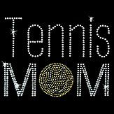 Hot Fix Motif Tennis Mom