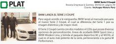 Inchcape Motors: Nuevo Serie 2 Coupé en la revista Empresas & Eventos de Perú (09/05/14)
