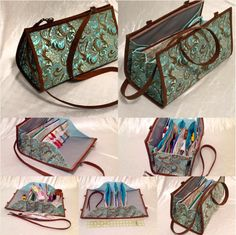 Quiltessa: Patchwork palette: My new Quilters organizer bag, now in red! Ironing Pad, Sew Together Bag, Purse Organization, Purse Patterns, Quilting Patterns, Denim Bag, Sewing Accessories, Handmade Bags, Handmade Bracelets