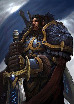 World of Warcraft King Varian Wrynn Dota Warcraft, Warcraft Art, Dnd Characters, Fantasy Characters, Varian Wrynn, Blizzard Warcraft, World Of Warcraft 3, Character Art, Character Design