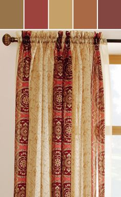 I Think I Found The New Curtains For My Kitchen. Theyu0027re More Red  Allen Roth Curtains
