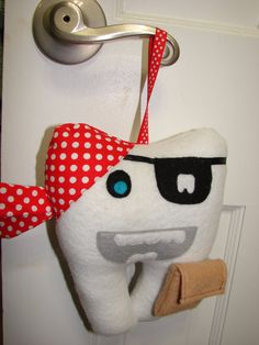 Tooth Fairy Pillow - Pirate. $11.00, via Etsy.