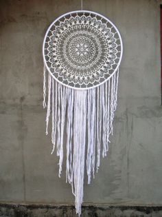 Large Dream Catcher Wall Hanging WHITE Dreamcatcher GIANT