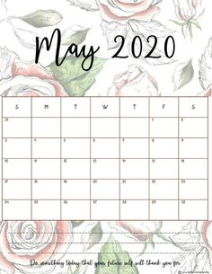 Free printable monthly planner 2020 in gorgeous floral designs. Great as wall calendar or in your planner binder. Printable Calendar 2020, Cute Calendar, Daily Planner Printable, Print Calendar, Monthly Planner, Planner Pages, Calendar Design, 2015 Planner, 2015 Calendar