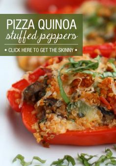 ***could be yummy in a tomato instead*** This Pizza Quinoa Stuffed Peppers recipe is definitely one to add to your list!