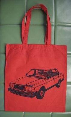 Volvo 240 Tote by HeyBuddy on Etsy, $7.00