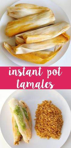 Instant Pot Tamales are lard-free, dairy-free, and egg-free. Depending on what filling you choose, they can easily be made vegan or vegetarian. Dairy Free Eggs, Dairy Free Recipes, Healthy Recipes, Delicious Recipes, Gluten Free, Lactose Free, Delicious Dishes, Amazing Recipes, Yummy Yummy