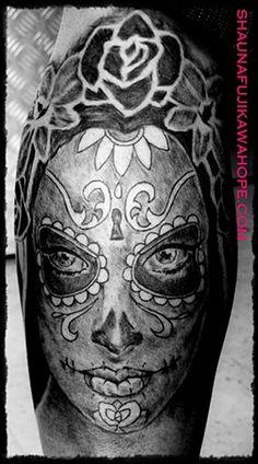 Shauna Fujikawa Hope Tattoos and Art ~  Sugar Skull