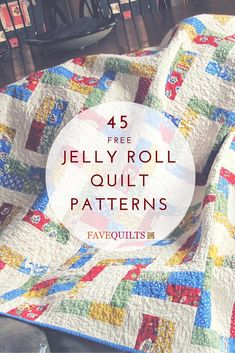 Made the Avignon Picnic quilt in bright colors--loved it! Now it's in Ecuador with Brian and Becky's Ecuadorian daughter. :) 45 Free Jelly Roll Quilt Patterns + New Jelly Roll Quilts Quilting For Beginners, Quilting Tutorials, Quilting Projects, Quilting Designs, Sewing Projects, Quilting Patterns, Quilting Tips, Block Patterns, Easy Quilt Patterns Free