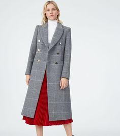 61b44ca2df Club Monaco Jemma Plaid Coat Plaid Coat