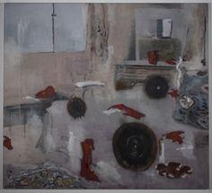 Interior  Oil on Canvas, 160 × 145 cm, 2011, Uwe Wittwer - Artist