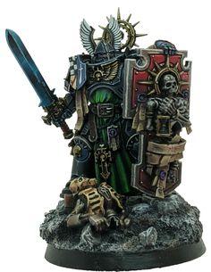 Warhammer Dark Angels, Dark Angels 40k, Warhammer Paint, Warhammer 40000, 40k Armies, Warhammer 40k Miniatures, Mini Paintings, The Grim, Space Marine