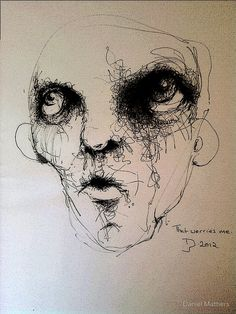 Creepy Art, Weird Art, Schizophrenia Art, Art Sketches, Art Drawings, Scribble Art, Gravure, Surreal Art, Art Sketchbook