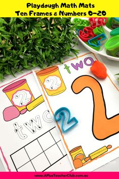 These printable numbers are an essential number recognition basic in every classroom. Perfect for creative math including playdough, tracing and colouring! Fall Preschool Activities, Fine Motor Activities For Kids, Hands On Activities, Numbers Kindergarten, Teaching Numbers, Preschool Kindergarten, Play Based Learning, Fun Learning, Learning Stations