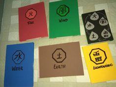 Capas de cadernos em Eva dos elementos da natureza do Naruto Naruto, Elements Of Nature, Notebooks, Cape Clothing