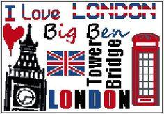 London - cross stitch
