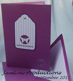 Purple Butterfly Card by JemLouProductions on Etsy, $3.00