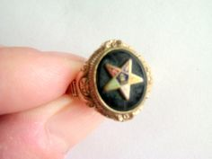 Vintage Masonic Ring / Gold Filled Ring / Eastern Star Ring / Masonic Jewelry / Eastern Star Jewelry / Size 7 Ring  / Free Shipping! by TamJewelryandUniques on Etsy