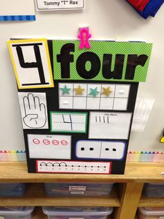 All About Number 4 with Pete the Cat Numbers Preschool, Math Numbers, Teaching Kindergarten, Preschool Classroom, Classroom Activities, Preschool Number Activities, Kindergarten Assessment, Numeracy Activities, Learning Numbers