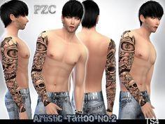 Pinkzombiecupcakes' Artistic Sleeve Tattoo No.2
