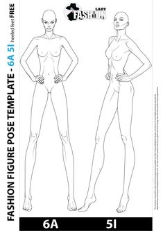 You can download some free samples of fashion female drawing templates and use it for your own fashion design.
