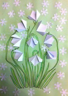 schneeglöckchen-basteln-origami-falten-papier-bastelideen-kinder