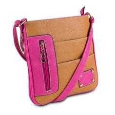 Ladies-Bag-Crossbody-bag-women-shoulder-handbag-front-pocket-travel-bag-Caramel